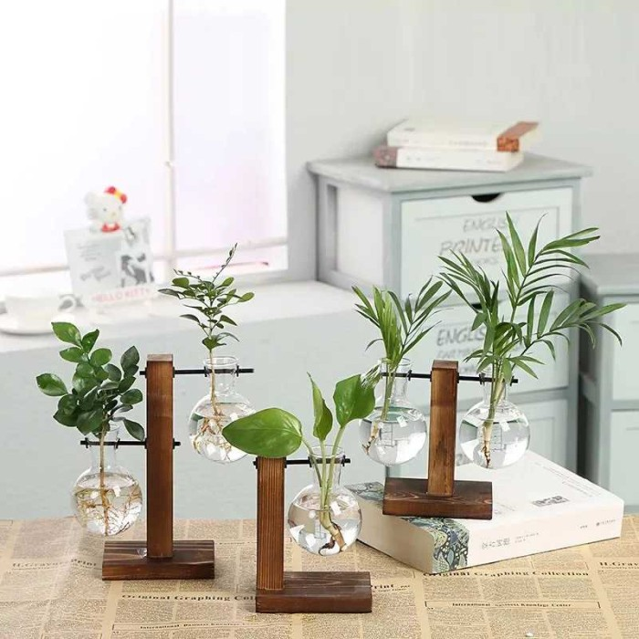 Jual Terlaris Wood Stand Iron Shelf Flower Vase Flower Pot Holder Crystal Kab Magelang W Brands Store Tokopedia