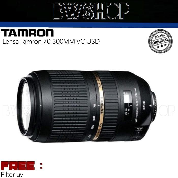 Foto Produk Lensa Tamron 70-300MM F4-5.6 DI VC USD - Tamron SP 70-300MM dari bw shop-