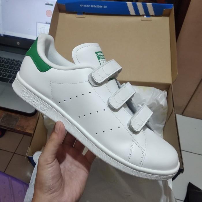 Jual Adidas Stan Smith CF Strap White Green | Original Ori BNIB | S75187 DKI Jakarta 25kixx | Tokopedia