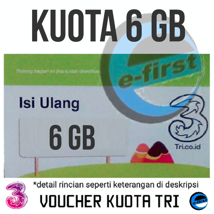 harga Voucher tri isi ulang data three aon 2 gb Tokopedia.com