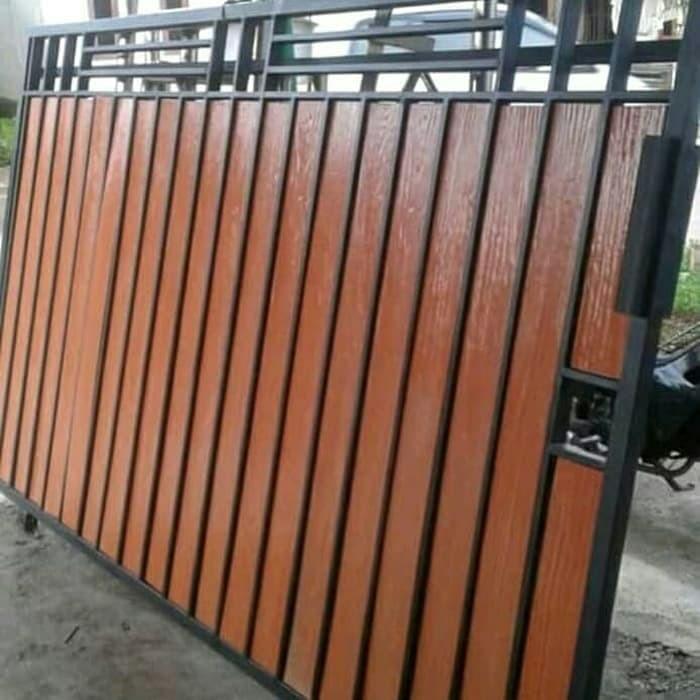 Jual Pintu Gerbang Model Kayu - Kota Tangerang Selatan - Mutiara Technik |  Tokopedia