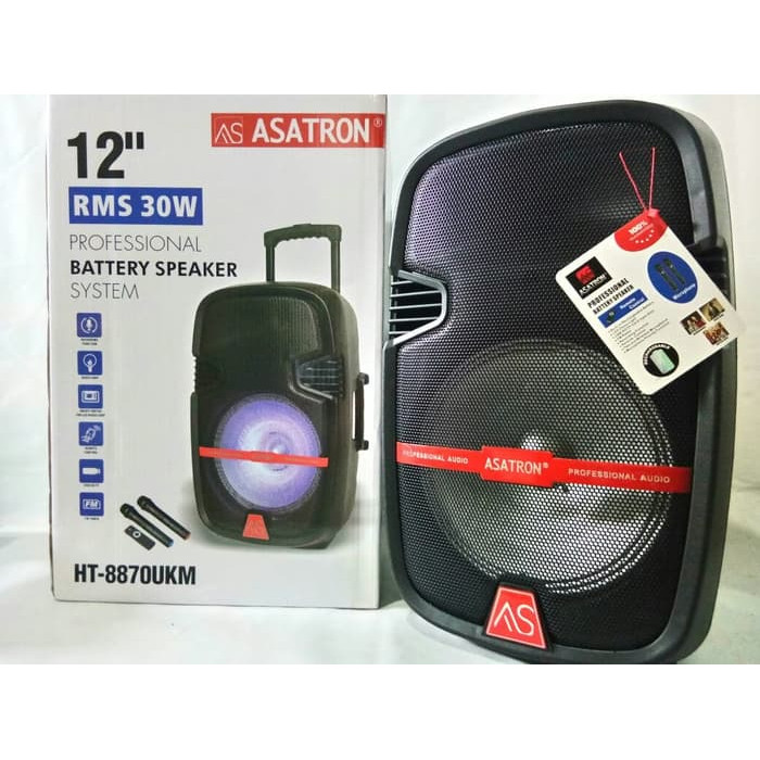 harga Asatron speaker portabel wireless meeting ht-8870 ukm 12 inch Tokopedia.com
