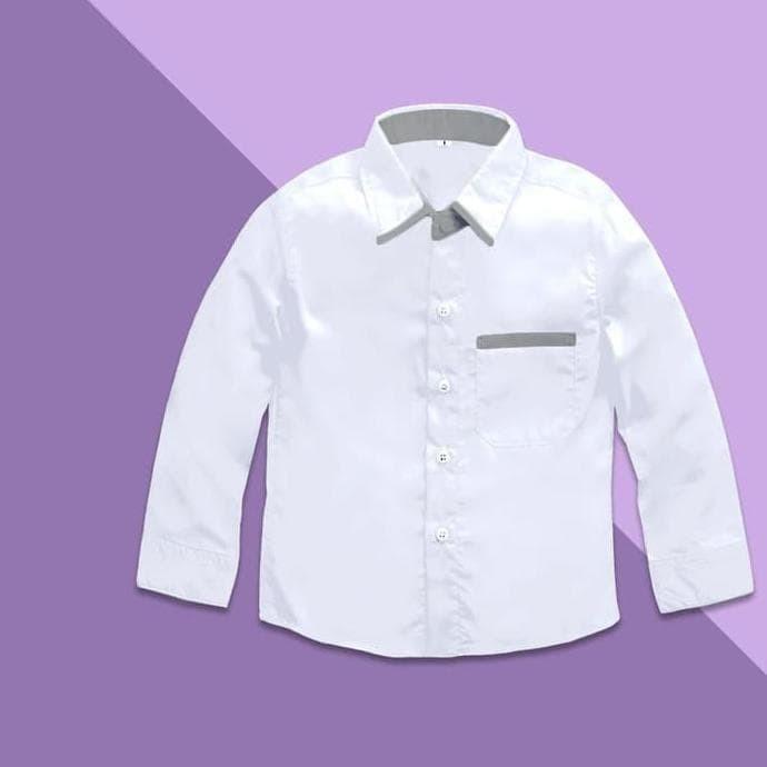 Jual Best Kemeja Anak Putih Polos Lengan Panjang Kidshirt Baju 1 8 Jakarta Pusat Agus Purnomo Edhi Tokopedia