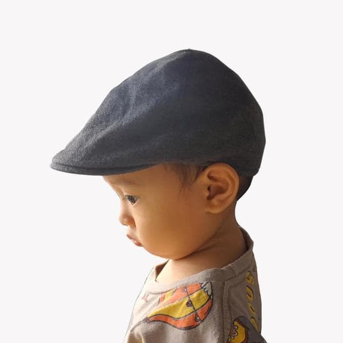fc06587c Jual Best Meet The Kids - Grey Flat Cap | Topi Anak - Abu-abu - DKI ...
