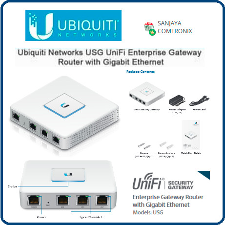 Ubiquiti USG/UniFi Security Gateway Router with Gigabit Ethernet