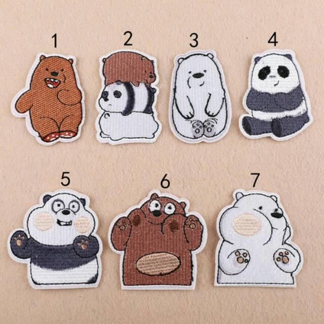 Jual Iron Patch We Bare Bears Bordir Tempel Grizzy Panpan Ice Bear Import Kota Semarang Cutepeppa Tokopedia