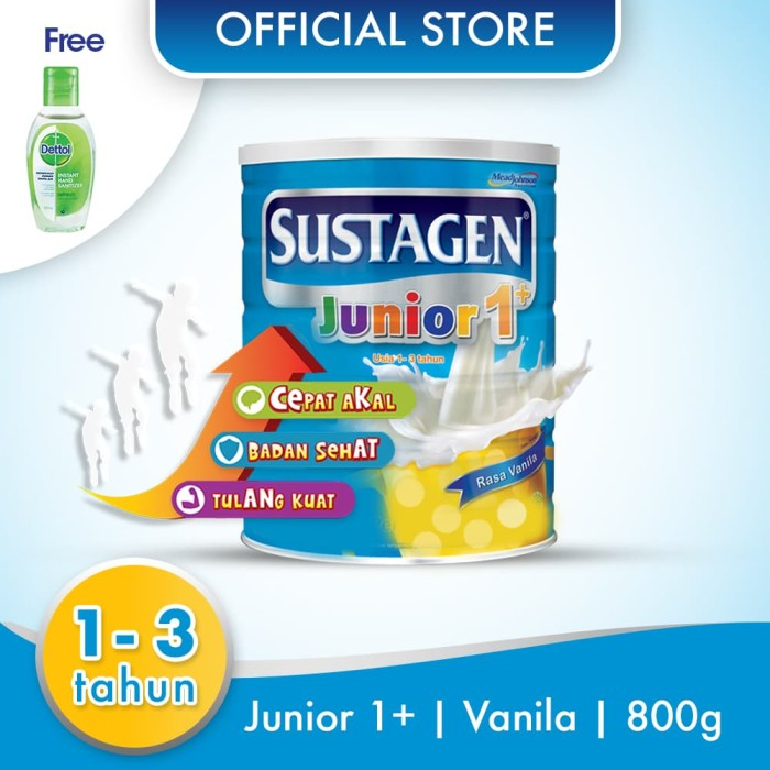 harga Sustagen junior susu pertumbuhan vanila 800g free handsanitizer Tokopedia.com