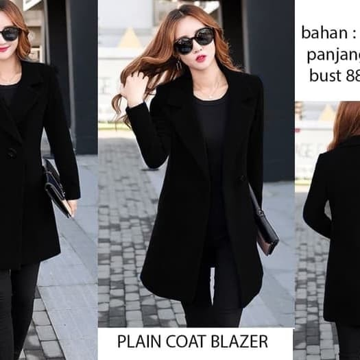 Foto Produk plain Coat Blazer (W354) dari Ichelle Store