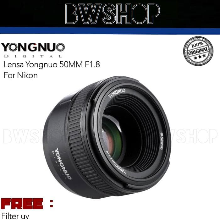 Foto Produk LENSA YONGNUO 50MM F1.8 FOR NIKON dari bw shop-