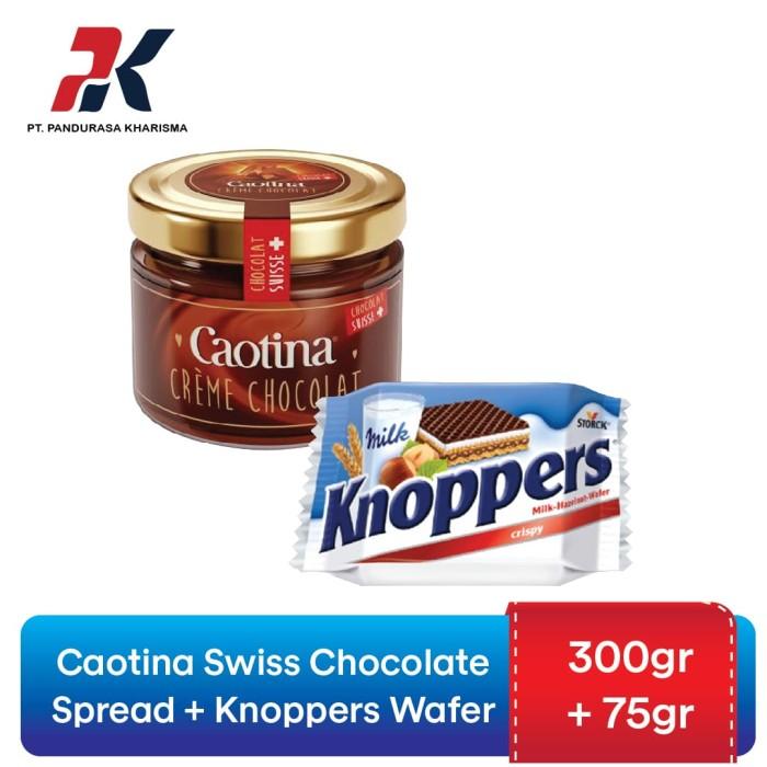 Jual Caotina Swiss Chocolate Spread 300gr + Knoppers Wafer 75gr - Jakarta  Barat - Pandurasa Official Store - OS | Tokopedia