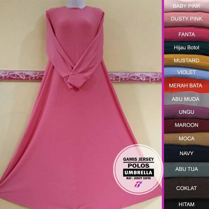 Jual Gamis Polos Jersey Murah Gamis Jersey Polos Premium Gamis Syar I Ungu Violet Jakarta Barat Wardana Shoep Tokopedia