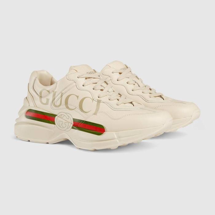 Jual Gucci Original Rhyton Gucci Logo Leather Sneaker Sepatu Gucci