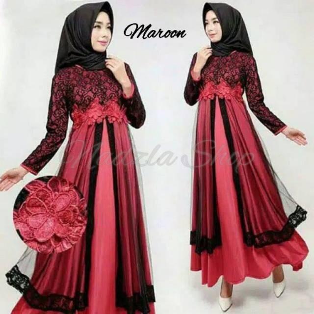 99c03913 Katalog Almira Party Dress Gamis Gaun Pesta Brukat Mix Tile Mewah  OriginalSpotharga.com Harga ...