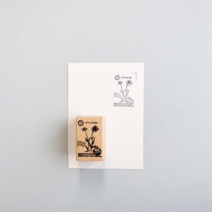 Foto Produk Botanical Series Rubber Stamp: Echinacea dari gudily