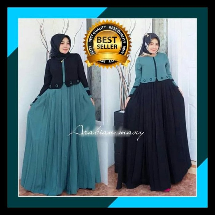 Jual Baju Gamis Wanita Terbaru Gamis Arabian Maxy Dress Syari