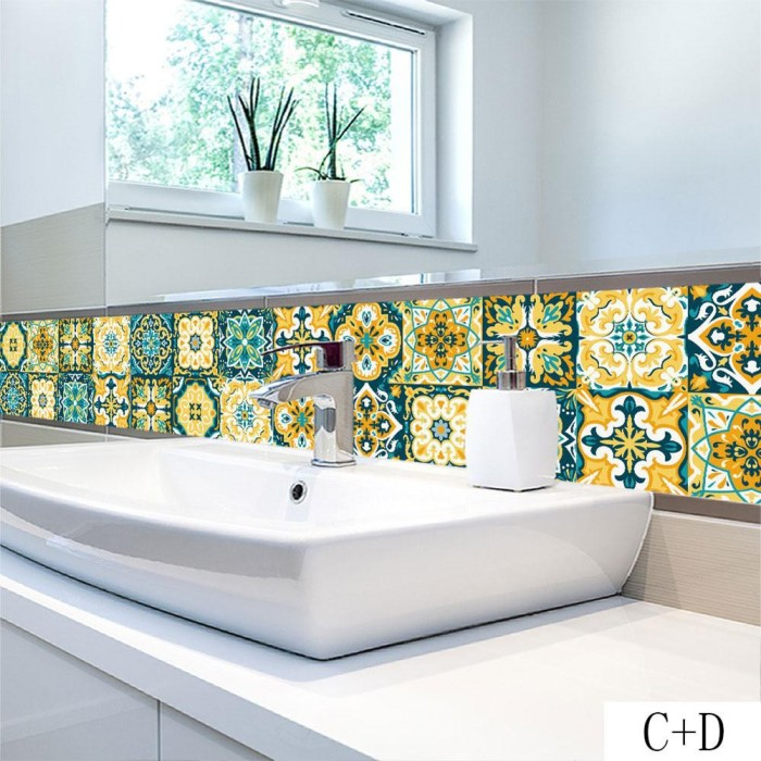 Jual Sale Classic Diy Wall Tiles Sticker Retro Kitchen Bathroom Toilet Jakarta Pusat Elkhayzoraan Shop Tokopedia