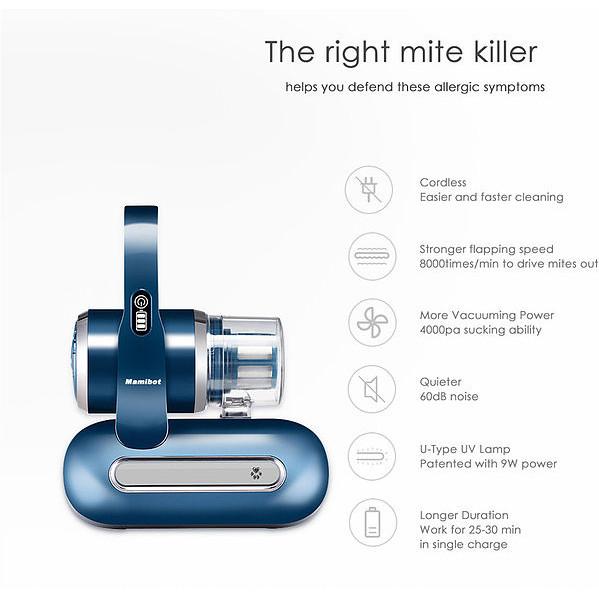 Jual Mamibot UV-Lite 100 Vacuum Cleaner Cordless Mite Killer ( Blue ) -  Jakarta Barat - Glamizka   Tokopedia