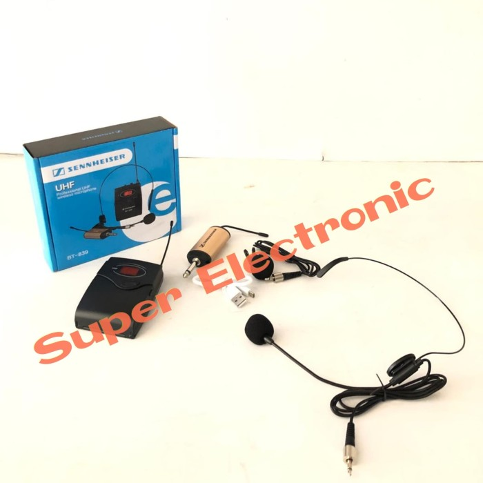 harga Mic sennheiser bt 839 wireless microphone clip on and headset Tokopedia.com