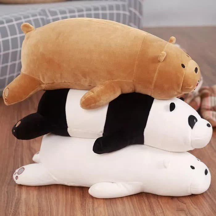 Foto Produk Boneka We Bare Bears Berbaring, Panda, Grizzly, Ice Bear SUPER SOFT dari KK_Store