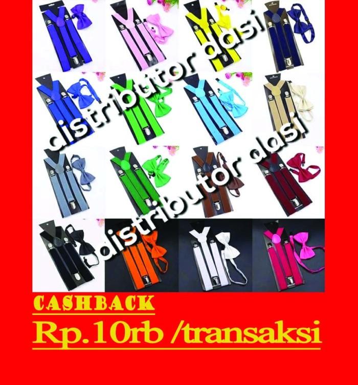 Foto Produk suspender bretel capit 3 set dasi kupu kupu fit XL distributor dasi dari Distributor Dasi