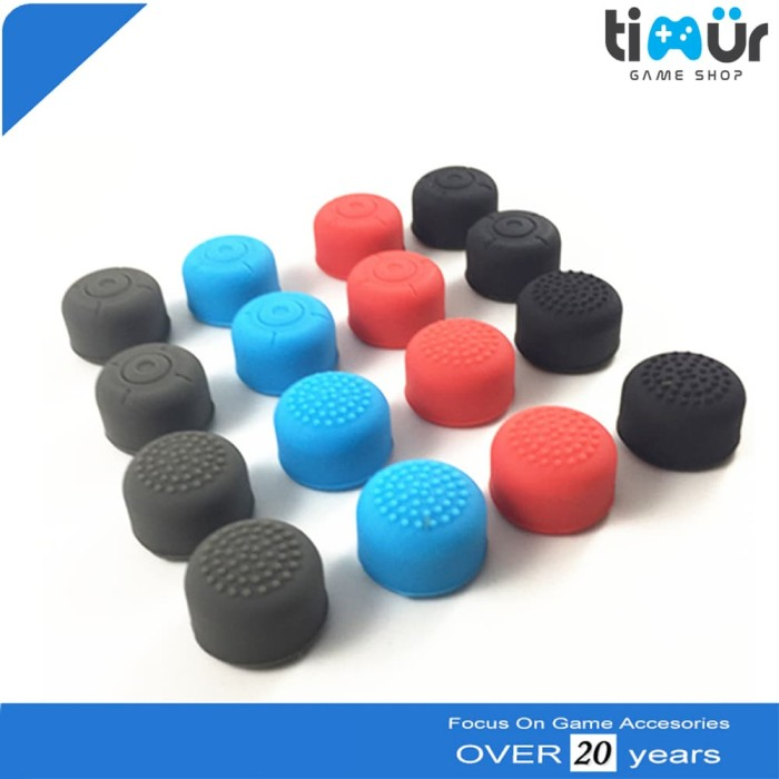 Foto Produk Anti Slip Silikon Silicone Thumb Grip Cover Analog NS Nintendo Switch dari Timur Game Shop