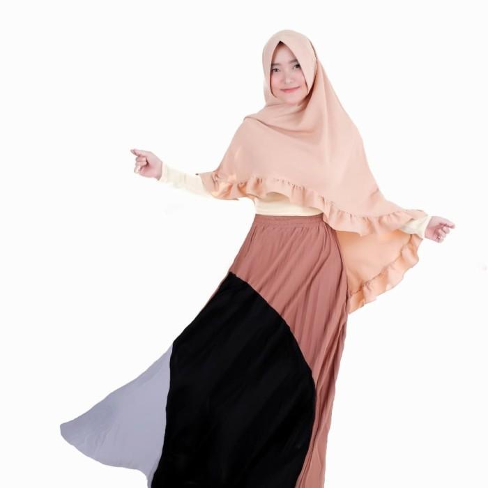80a3fc51b5 Jual Longskirt Rok Panjang Maxi Plisket Import Velvet Premium Real ...