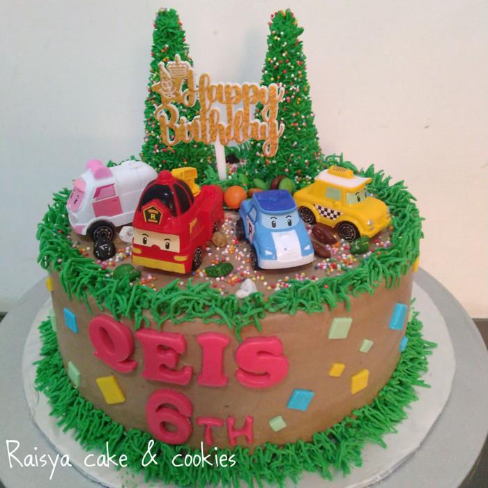 Jual Kue Ulang Tahun Robocar Poli Jakarta Utara Raisya Cake Cookies Tokopedia
