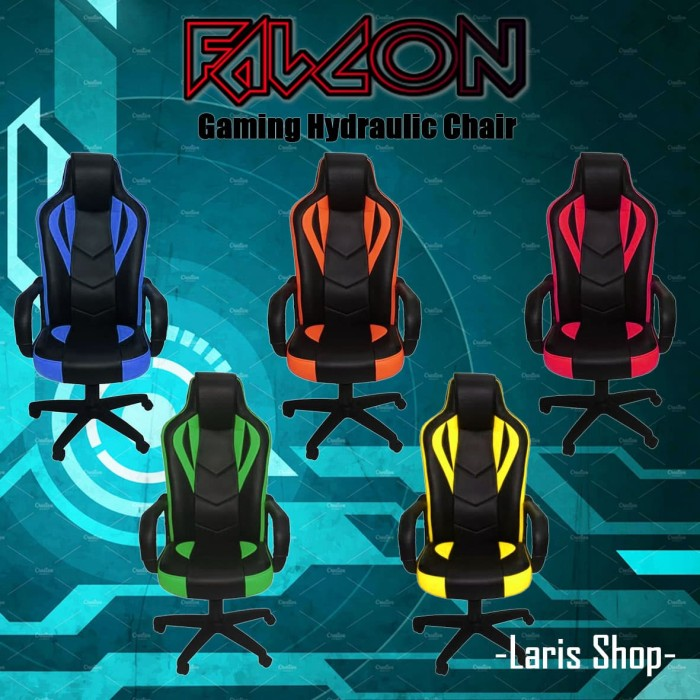 Foto Produk Kursi Gaming / Bangku Game Falcon - Orange dari Toko Laris Furniture