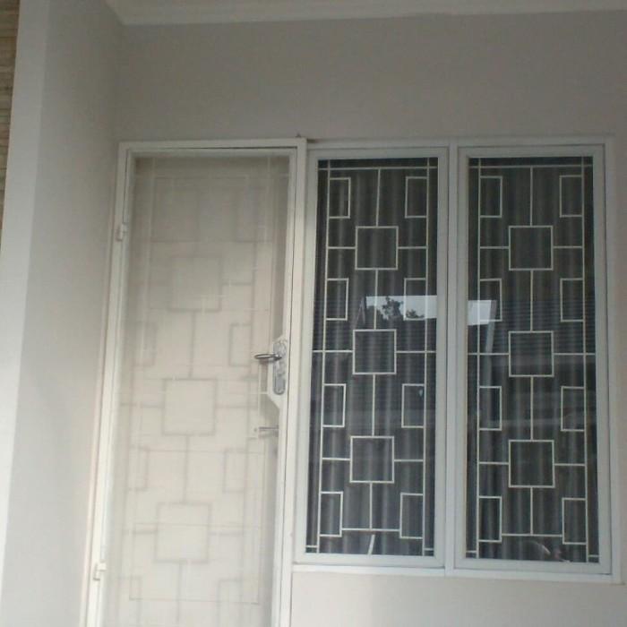 Jual Teralis Jendela Plus Pintu Kasa Nyamuk Minimalis Kota
