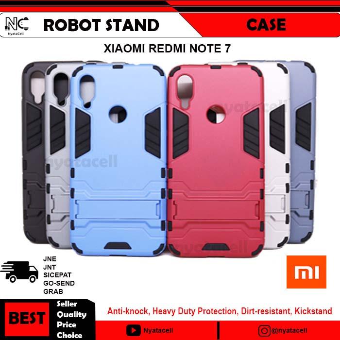 Case Xiaomi Redmi Note 7 Robot Rugged Armor /Hard Rubber Casing - Silver