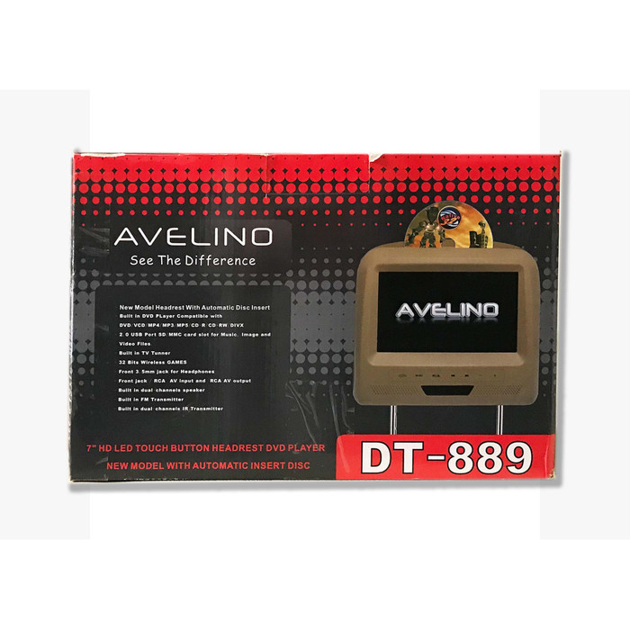 harga Avelino dt-889. headrest monitor dvd. 7 inch. built in games. gray. Tokopedia.com