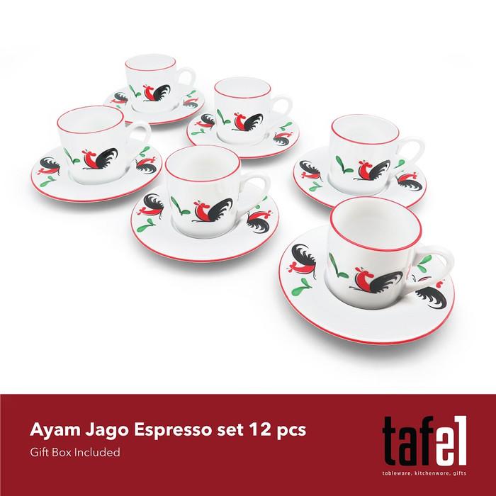 Foto Produk Cangkir Set Espresso Ayam 6 Pasang / Cangkir Kopi dari TAFEL21