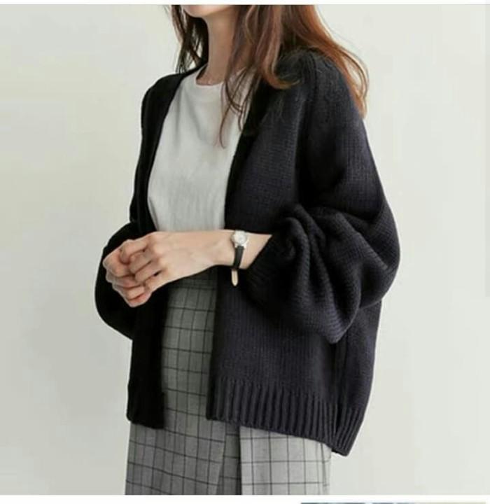 Foto Produk Cardi Amelia Black [Outwear 0133] SD9 dari Super Model