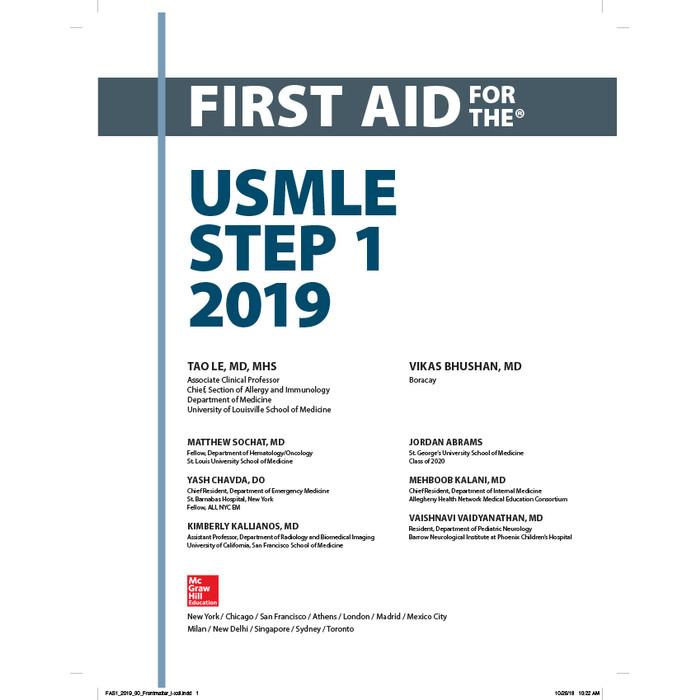 Jual First Aid for the USMLE Step 1 2019 - Kab  Bekasi - Youcan Books |  Tokopedia