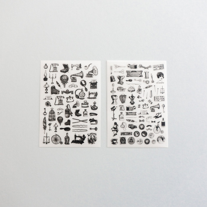 Foto Produk Rub-on Sticker Mini Vintage Goods dari gudily