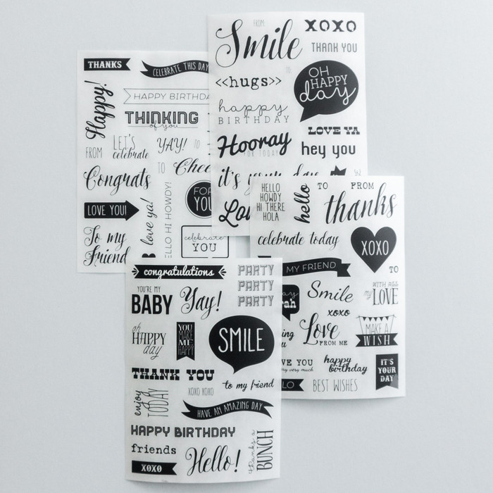 Foto Produk Rub-on Sticker Modern Calligraphy dari gudily