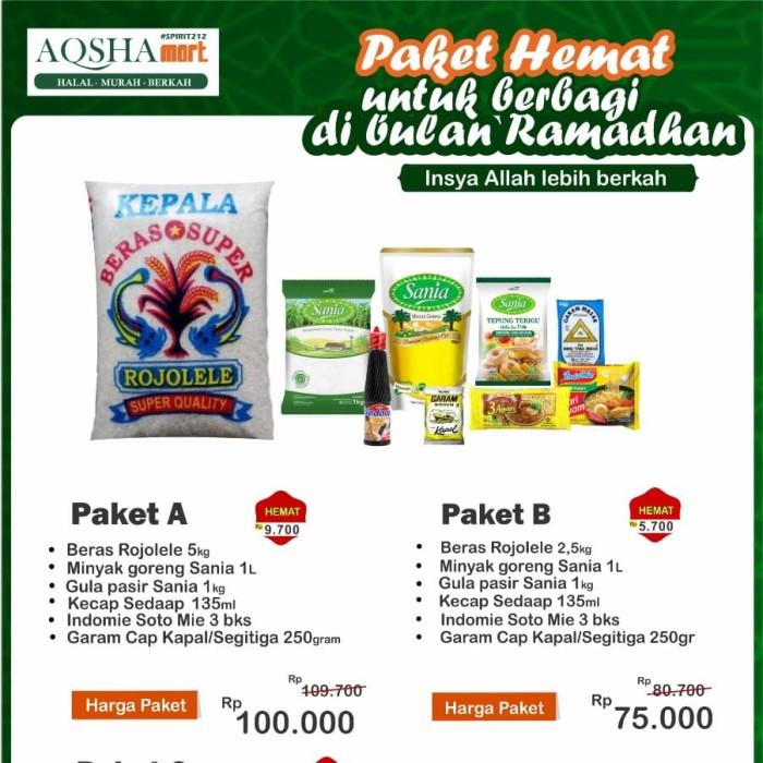 Jual Paket Sembako Kota Tangerang Selatan Aqshamart 212 Tokopedia