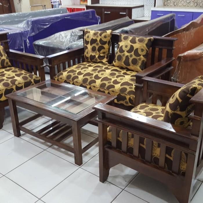 Kursi Kayu Bekas Jogja  jual kursi tamu kayu sofa kayu minimalis kab bekasi citra furniture tokopedia