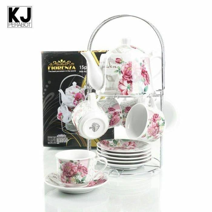 Foto Produk Tea Set Fiorenza / Cangkir Set Fiorenza 15 pcs dengan Teko dari TOKO ERWIN TANJUNG