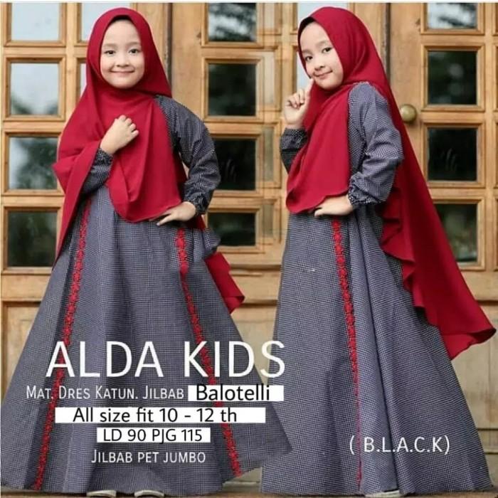 Jual Alda Kids Baju Muslim Gamis Anak Perempuan Usia 10 12 Tahun Jakarta Utara Ferra Fashion Tokopedia