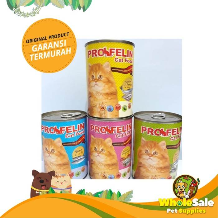 Foto Produk PROFELIN CAT FOOD WET SARDINES WITH SALMON IN JELLY WET 400GR dari Wholesale Pet Supplies