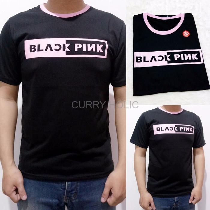 Jual Kaos Pria Kaos Cowok Model Terlaris 1651 Kaos Black Pink