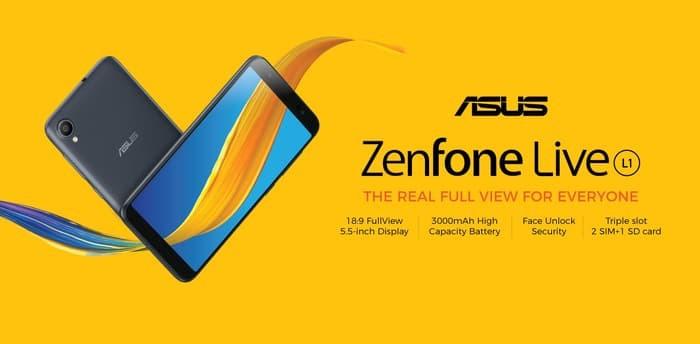 Foto Produk Asus Zenfone Live L1 ZA550KL 3/32 RAM 3GB ROM 32GB GARANSI RESMI ASUS dari sentosaland