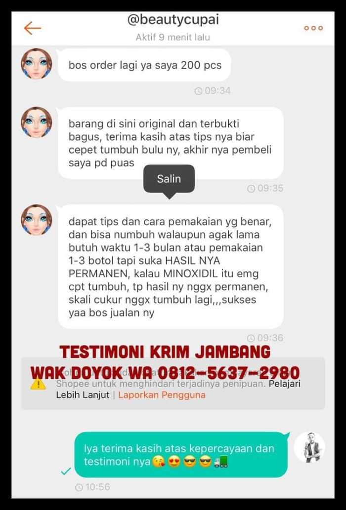 Jual Krim Jambang Wak Doyok Malaysia Original Cream Wakdoyok