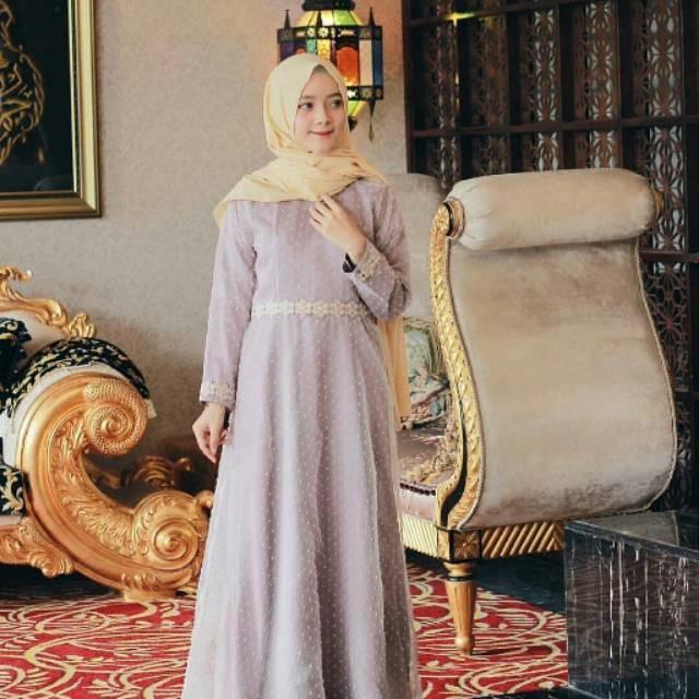 Model Baju Gamis Zoya Terbaru Hijabfest