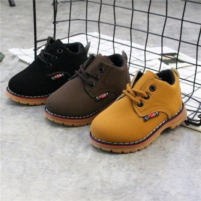 harga Sepatu boots casual anak murah / geranio tan shoes - 21 hitam Tokopedia.com