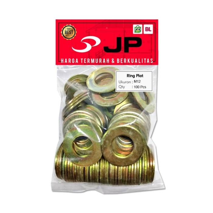 Foto Produk RING PLAT M 12 - RING PLAT BAUT M12 ISI 100 PCS dari Juragan Perkakas