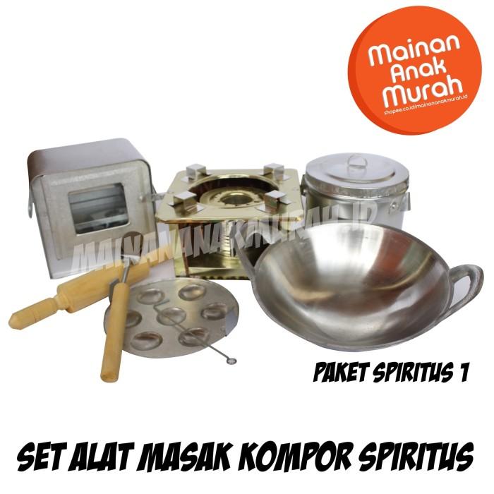 Foto Produk Paket Spiritus 1 Kompor Mainan Spirtus Mini Mainan Masak Masakan Logam dari MAINANANAKMURAH.ID