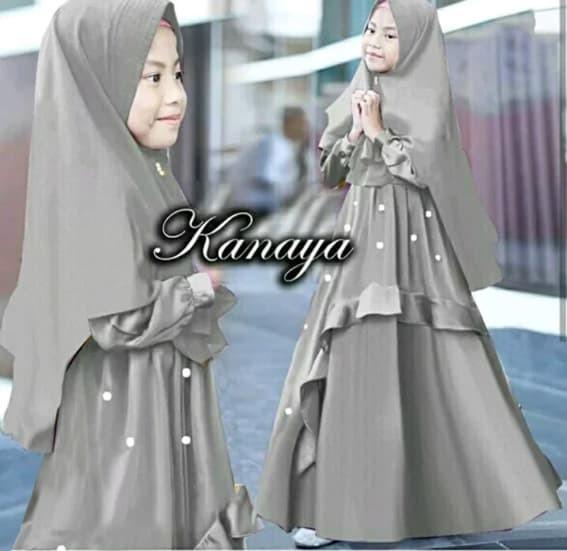 Foto Produk Setelan Anak Perempuan Muslim Kayana Baju Muslim Gamis Kids 2in1 dari Super Collection