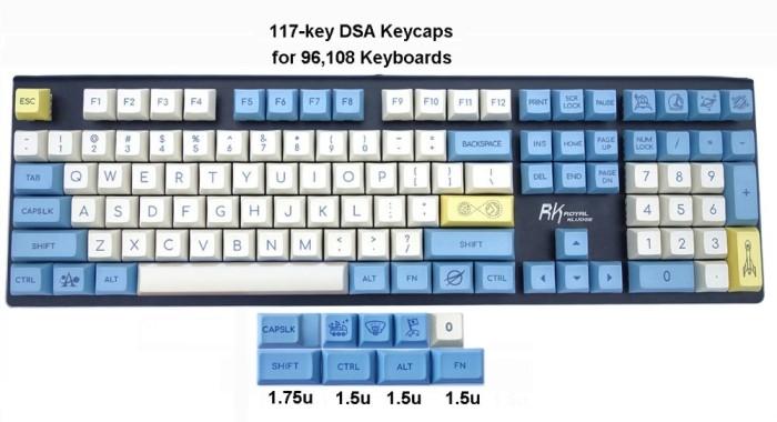 Jual 96 108-key DSA Keycaps PBT Dye-sublimation Top Print Novelty Keycaps -  Kota Surabaya - Punky Mart | Tokopedia